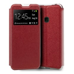 Funda Libro Soporte con Ventana para Samsung Galaxy A20e 5.8 Color Roja