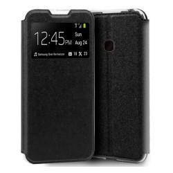 Funda Libro Soporte con Ventana para Samsung Galaxy A40 Color Negra