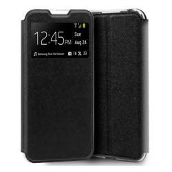 Funda Libro Soporte con Ventana para Xiaomi Mi 9 Lite Color Negra