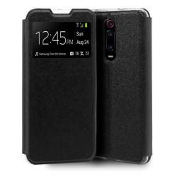 Funda Libro Soporte con Ventana para Xiaomi Mi 9T / Mi 9T Pro Color Negra