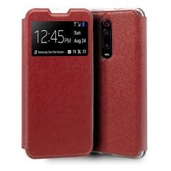 Funda Libro Soporte con Ventana para Xiaomi Mi 9T / Mi 9T Pro Color Roja