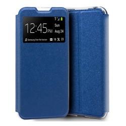 Funda Libro Soporte con Ventana para Xiaomi Mi A3 Color Azul