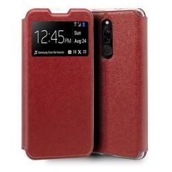 Funda Libro Soporte con Ventana para Xiaomi Redmi 8 Color Roja