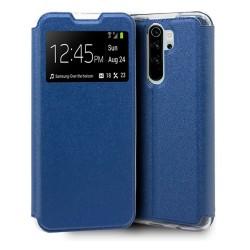 Funda Libro Soporte con Ventana para Xiaomi Redmi Note 8 Pro Color Azul