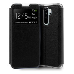 Funda Libro Soporte con Ventana para Xiaomi Redmi Note 8 Pro Color Negra
