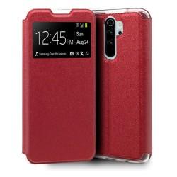 Funda Libro Soporte con Ventana para Xiaomi Redmi Note 8 Pro Color Roja
