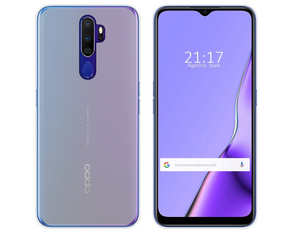 Funda Gel Tpu para Oppo A9 2020 Color Transparente