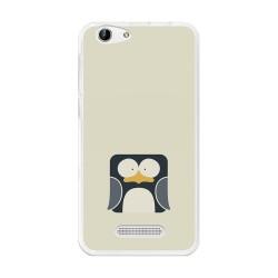 Funda Gel Tpu para Cubot Note S / Dinosaur  Diseño Pingüino Dibujos