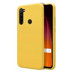 Funda Silicona Líquida Ultra Suave para Xiaomi Redmi Note 8T color Amarilla