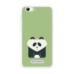 Funda Gel Tpu para Cubot Note S / Dinosaur Diseño Panda Dibujos