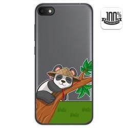 Funda Gel Transparente para Alcatel 1V 2019 diseño Panda Dibujos