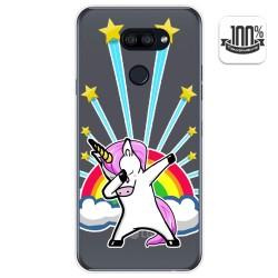 Funda Gel Transparente para Lg K40S diseño Unicornio Dibujos