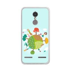 "Funda Gel Tpu para Lenovo K6 4G 5"" Diseño Familia Dibujos"