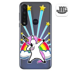 Funda Gel Transparente para Motorola Moto G8 Plus diseño Unicornio Dibujos
