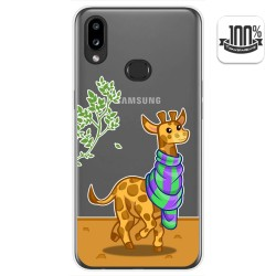 Funda Gel Transparente para Samsung Galaxy A10s diseño Jirafa Dibujos