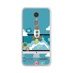 "Funda Gel Tpu para Lenovo K6 4G 5"" Diseño Cohete Dibujos"
