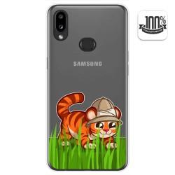 Funda Gel Transparente para Samsung Galaxy A10s diseño Tigre Dibujos