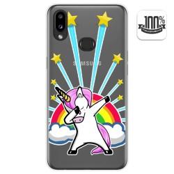 Funda Gel Transparente para Samsung Galaxy A10s diseño Unicornio Dibujos