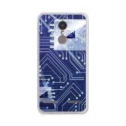 """Funda Gel Tpu para Lenovo K6 4G 5"""" Diseño Circuito Dibujos"""