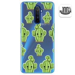 Funda Gel Transparente para Realme X2 Pro diseño Cactus Dibujos