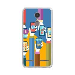 "Funda Gel Tpu para Lenovo K6 4G 5"" Diseño Apps Dibujos"