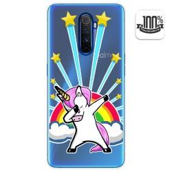 Funda Gel Transparente para Realme X2 Pro diseño Unicornio Dibujos