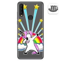 Funda Gel Transparente para Alcatel 3X 2020 diseño Unicornio Dibujos