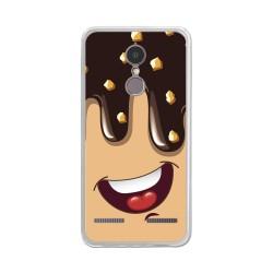 """Funda Gel Tpu para Lenovo K6 4G 5"""" Diseño Helado Chocolate Dibujos"""