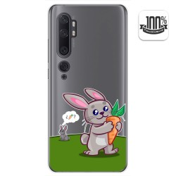 Funda Gel Transparente para Xiaomi Mi Note 10 diseño Conejo Dibujos