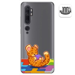 Funda Gel Transparente para Xiaomi Mi Note 10 diseño Leopardo Dibujos