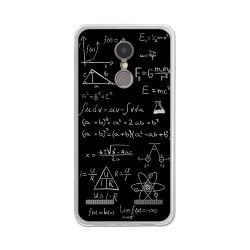 "Funda Gel Tpu para Lenovo K6 4G 5"" Diseño Formulas Dibujos"
