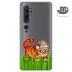 Funda Gel Transparente para Xiaomi Mi Note 10 diseño Tigre Dibujos