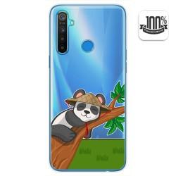Funda Gel Transparente para Realme 5 / 5s / 5i / 6i diseño Panda Dibujos