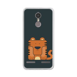 "Funda Gel Tpu para Lenovo K6 4G 5"" Diseño Tigre Dibujos"