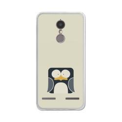 """Funda Gel Tpu para Lenovo K6 4G 5"""" Diseño Pingüino Dibujos"""