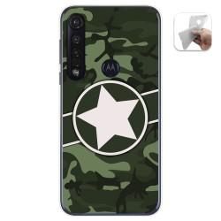 Funda Gel Tpu para Motorola Moto G8 Plus diseño Camuflaje 01 Dibujos