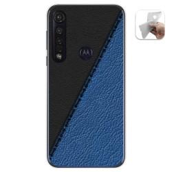 Funda Gel Tpu para Motorola Moto G8 Plus diseño Cuero 02 Dibujos