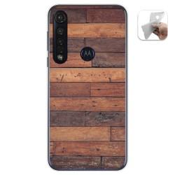 Funda Gel Tpu para Motorola Moto G8 Plus diseño Madera 03 Dibujos