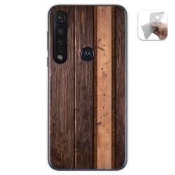 Funda Gel Tpu para Motorola Moto G8 Plus diseño Madera 05 Dibujos