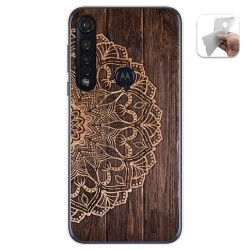 Funda Gel Tpu para Motorola Moto G8 Plus diseño Madera 06 Dibujos