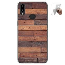 Funda Gel Tpu para Samsung Galaxy A10s diseño Madera 03 Dibujos