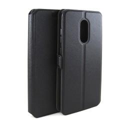 Funda Soporte Piel Negra para Xiaomi Redmi Note 4 / 4X / 4 Pro / Note 4 Version Global Flip Libro