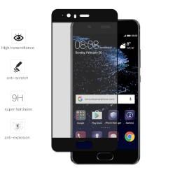 Protector Cristal Templado Frontal Completo Negro para Huawei P10 Vidrio