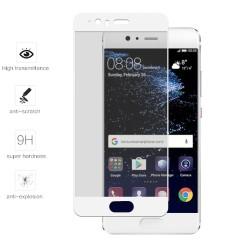 Protector Cristal Templado Frontal Completo Blanco para Huawei P10 Vidrio