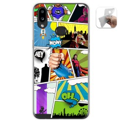 Funda Gel Tpu para Samsung Galaxy A10s diseño Comic Dibujos