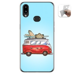 Funda Gel Tpu para Samsung Galaxy A10s diseño Furgoneta Dibujos
