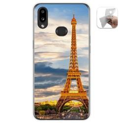 Funda Gel Tpu para Samsung Galaxy A10s diseño Paris Dibujos