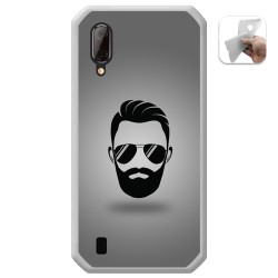 Funda Gel Tpu para Blackview BV6100 diseño Barba Dibujos