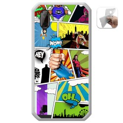 Funda Gel Tpu para Blackview BV6100 diseño Comic Dibujos