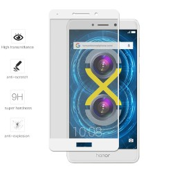 Protector Cristal Templado Frontal Completo Blanco para Huawei Honor 6X Vidrio